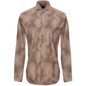 《セール開催中》BRIAN DALES メンズ シャツ カーキ 39 コットン 100%