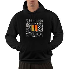 ボン・イヴェール Bon IVER S メンズ パーカー 秋服 メンズ プルオーバー 長袖 Tシャツ フード付き ゆったり フーディ おしゃれ スポーツ トップス おおきいサイズ 秋 冬