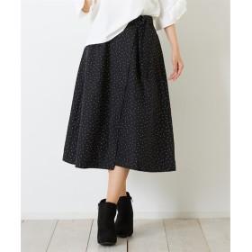 Green Parks(グリーンパークス)。ラップドットギャザースカート (ロング丈・マキシ丈スカート)Skirts, 裙子
