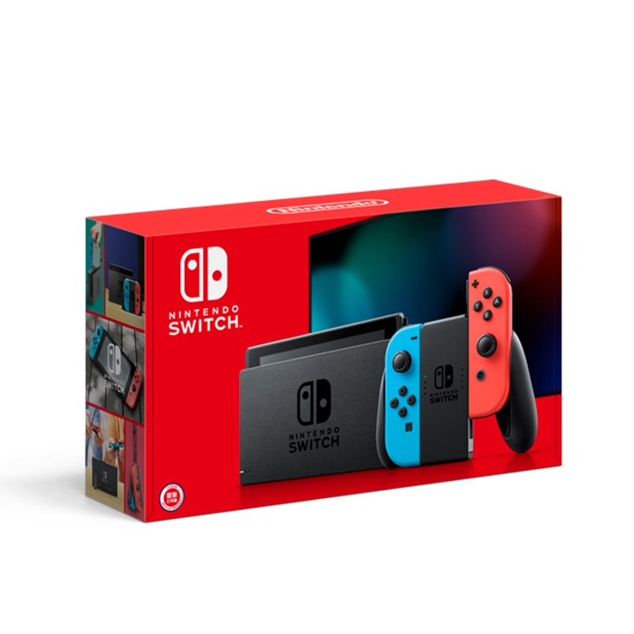 【NS】Nintendo Switch 主機【電光藍/電光紅】(台灣公司貨電力加強版)
