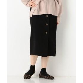 アルシーヴ ラップボタンタイトスカート レディース ブラック M 【archives】