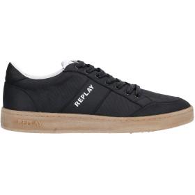 《セール開催中》REPLAY メンズ スニーカー&テニスシューズ(ローカット) ブラック 43 紡績繊維