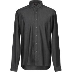 《セール開催中》ARGENTO メンズ デニムシャツ ブラック S コットン 97% / ポリウレタン 3%