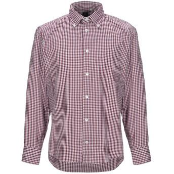 《セール開催中》ELEVENTY メンズ シャツ ボルドー 40 コットン 100%