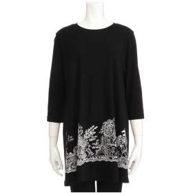 TOKUKO 1er VOL Automne*ファンタジック丸首Tシャツ Tシャツ・カットソー,ブラック