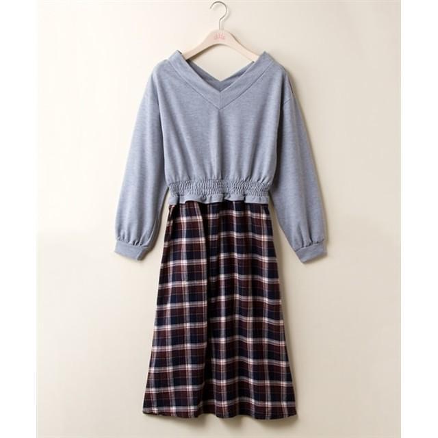 ドッキングワンピース (大きいサイズレディース)ワンピース, plus size dress, 衣裙, 連衣裙