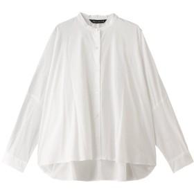 mizuiro ind ミズイロインド バックギャザーワイドシャツ オフホワイト