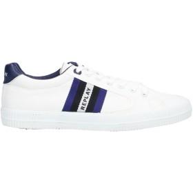 《セール開催中》REPLAY メンズ スニーカー&テニスシューズ(ローカット) ホワイト 41 紡績繊維