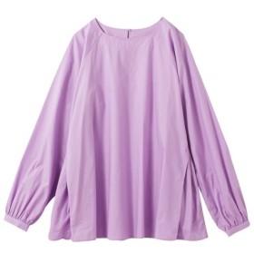 綿100%サイドタックデザインブラウス(オトナスマイル) (大きいサイズレディース) plus size shirts, 衫, 襯衫
