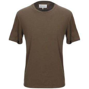 《セール開催中》MAISON MARGIELA メンズ T シャツ ミリタリーグリーン 46 コットン 100%