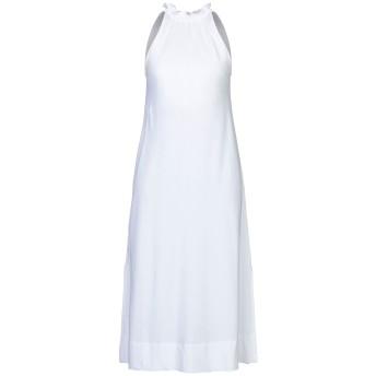 《セール開催中》ALPHA STUDIO レディース 7分丈ワンピース・ドレス ホワイト 42 コットン 100%