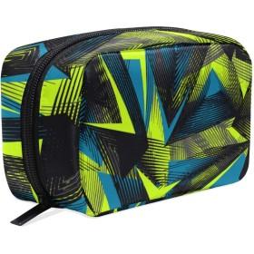 GUKISALA 化粧ポーチ,抽象的なシームレスな幾何学模様グランジ都市,大容量コスメケース多機能旅行用高品質収納ケース メイク ブラシ バッグ 化粧バッグ ファッションバッグ
