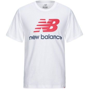 《セール開催中》NEW BALANCE メンズ T シャツ ホワイト L コットン 100%