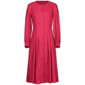 《セール開催中》TARA JARMON レディース 7分丈ワンピース・ドレス ガーネット 40 コットン 100%
