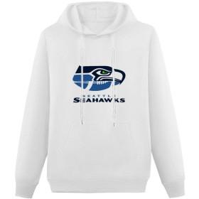 Seattle Seahawks シアトル・シーホークス パーカー メンズ 綿 プルオーバー スウエットパーカー 長袖 アメカジ フード付 春秋冬 ポケット付き