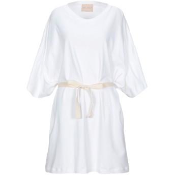 《セール開催中》ERIKA CAVALLINI レディース ミニワンピース&ドレス ホワイト XS コットン 100%