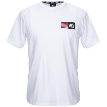 《セール開催中》STARTER メンズ T シャツ ホワイト S コットン 100%
