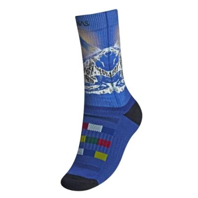 【ATUNAS 歐都納】世界七頂峰厚底登山襪A6AS1908N藍/吸濕排汗/乾爽舒適
