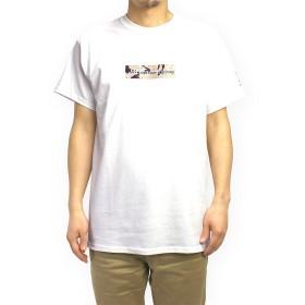 (マークゴンザレス) Mark Gonzales デザートカモBOXロゴTシャツ (L, ホワイト)