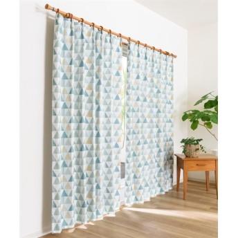 トライアングル柄遮熱遮光カーテン ドレープカーテン(遮光あり・なし) Curtains, blackout curtains, thermal curtains, Drape(ニッセン、nissen)