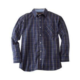綿100%コーマブロードマドラスチェック柄長袖シャツ(日本製) プチメガ カジュアルシャツ, Shirts, 衫, 襯衫