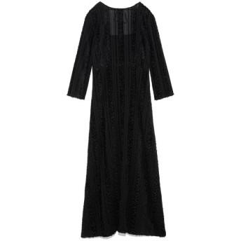 フレイ アイディー ストライプカットジャガードドレス レディース BLK 0 【FRAY I.D】