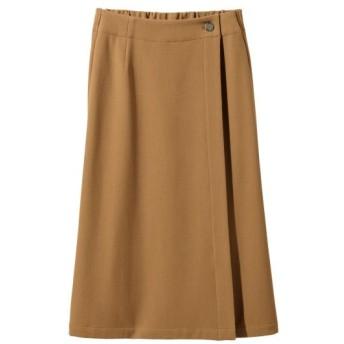 股ずれしにくい裏地付2WAYストレッチ巻スカート(ゆったりヒップ) (大きいサイズレディース)スカート, plus size skirts