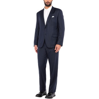 《セール開催中》PAOLONI メンズ スーツ ダークブルー 58 バージンウール 100%