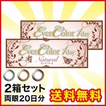 エバーカラーワンデーナチュラル ×2箱 1day カラーコンタクトレンズ 送料無料 キャッシュレス5%還元