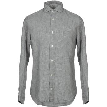 《セール開催中》ELEVENTY メンズ シャツ グレー 39 麻 100% / コットン