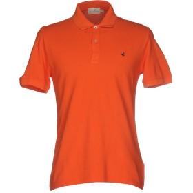 《セール開催中》BROOKSFIELD メンズ ポロシャツ オレンジ 50 コットン 100%