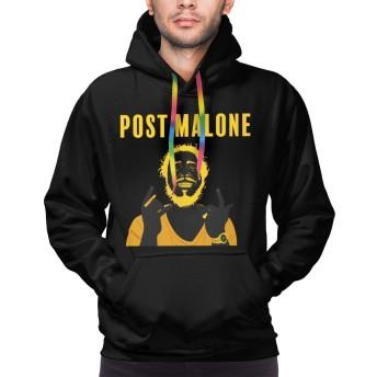 メンズ ポスト・マローンPost Malone パーカー スウェット フード ポケット付き おおきいサイズ ファッション 秋 冬物フード トレーナー アウター
