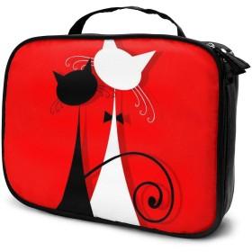 収納袋ウェディングドレスの恋人猫化粧品袋耐摩耗性軽量ポータブル高品質大容量旅行ポーチバスルームポーチ旅行小物整理約8×25×19cm