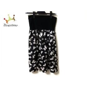 フランシュリッペ franchelippee スカート サイズM レディース 美品 黒×アイボリー ネコ 新着 20191120