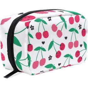 GUKISALA 化粧ポーチ,白地に桜模様のラッピング,大容量コスメケース多機能旅行用高品質収納ケース メイク ブラシ バッグ 化粧バッグ ファッションバッグ