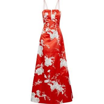 《セール開催中》ALICE + OLIVIA レディース ロングワンピース&ドレス レッド 2 ポリエステル 100% / シルク