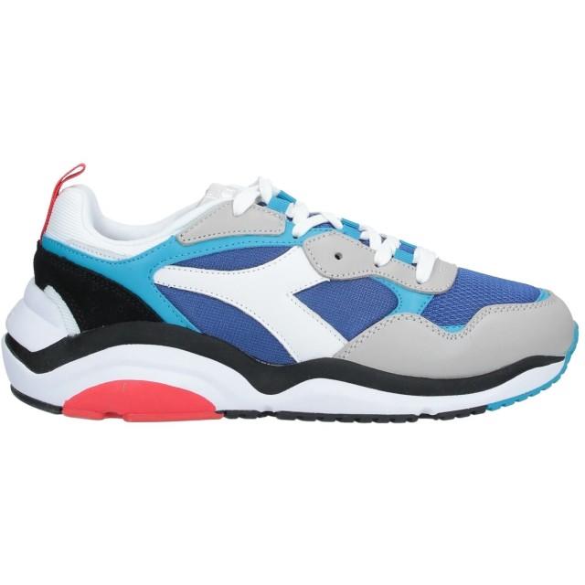 《セール開催中》DIADORA メンズ スニーカー&テニスシューズ(ローカット) ブルー 8.5 革 / 紡績繊維