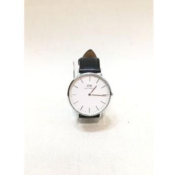 経堂) ダニエル ウェリントン Daniel Wellington 腕時計 ブラック ホワイト ウォッチ 本体のみ