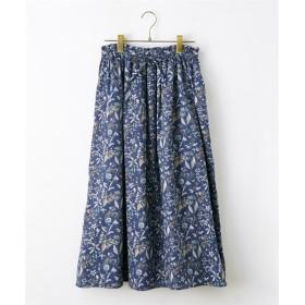 綿100%大人の花柄ふんわりスカート (ひざ丈スカート)Skirts, 裙子