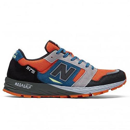 New Balance 575 男鞋 休閒 英國製 麂皮 輕量 橘 藍 黑【運動世界】MTL575OP