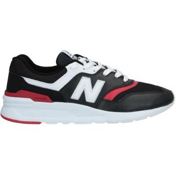 《セール開催中》NEW BALANCE メンズ スニーカー&テニスシューズ(ローカット) ブラック 5 革 / 紡績繊維