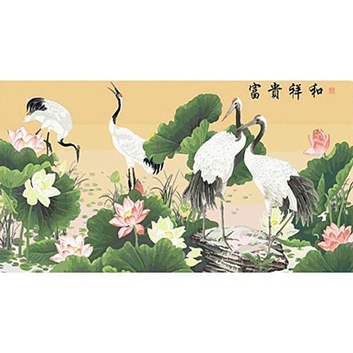 【70073】\t富貴祥和60120_DIY 數字 油畫 彩繪