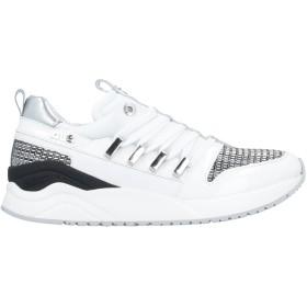 《セール開催中》CESARE PACIOTTI 4US レディース スニーカー&テニスシューズ(ローカット) ホワイト 37 革 / 紡績繊維