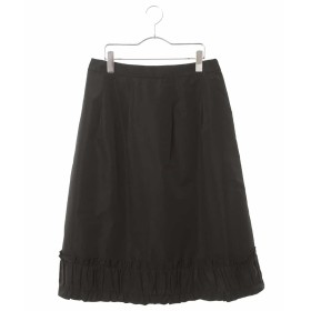 HIROKO BIS GRANDE 【洗濯機で洗える】フリルギャザーミディスカート その他 スカート,ブラック