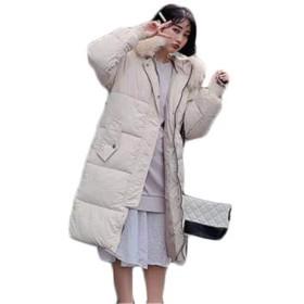 [ンーセンー] ダウンジャケット ダウンコート 棉服コート 棉服ジャケット 防寒 暖かい 保温性 あったか 厚手 ゆったり 修身 コーディネート アウター ファッション ベージュ XXL