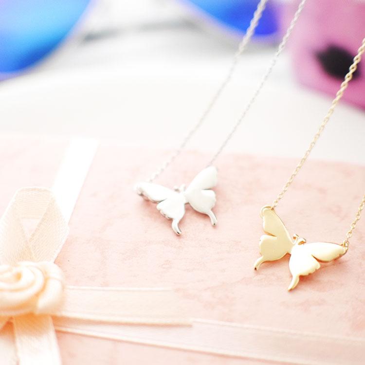 韓系典雅蝴蝶造型項鍊