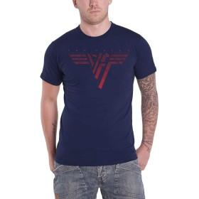Van Halen T Shirt Classic レッド Band Logo 新しい 公式 メンズ Navy ブルー Size S