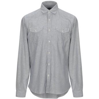 《セール開催中》IN SHIRTSLEEVES メンズ シャツ ダークブルー 41 コットン 100%