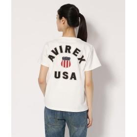 アヴィレックス Women's/半袖 ヴァーシティー Tシャツ/VARSITY T SHIRT レディース OFF/WHITE F 【AVIREX】