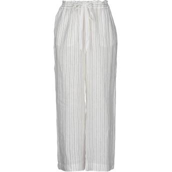 《セール開催中》ZHELDA レディース パンツ ホワイト 0 指定外繊維(ヘンプ) 50% / 麻 45% / レーヨン 3% / ポリエステル 1% / ナイロン 1%